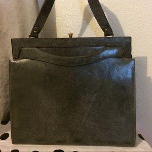 Handbags - Vintage Dark Green Handbag
